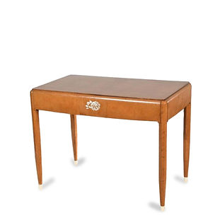 jules leleu table a écrire 1924 bureau loupe d'amboine marqueterie ivoire collection serge royaux décorateur art deco
