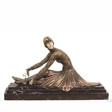chiparus chryselephantine femme assise danseuse russe art deco russie