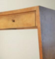 jean royère petit bureau bois tiroir 1950