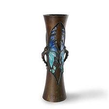 lucien gaillard vase papillon métal japonisme marcilhac chef d'oeuvre