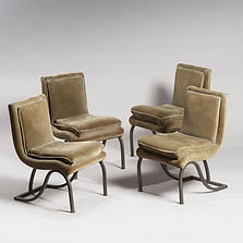 eugene printz chaises chairs 1930 collection adelsky laiton patiné