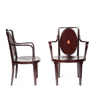 Josef Hoffmann J Kohn Kunstschau 1908 bois courbé bentwood furniture thonet mundus