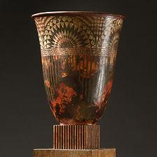 claudius linossier grand vase cornet dinanderie 1928 33 cm art deco dinandier lyonnais