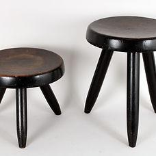 charlotte perriand tabouret berger martin corbusier bois laffanour minimalisme fonctionnalisme design french 1950