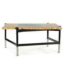 emmenuel eyraud jean-rené prou rené bureau desk travertin design furniture decoration mobilier auction encheres