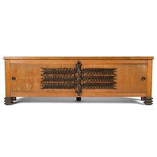 léon jallot raymond subes meubles 1942 1945 bahut chêne et ferronnerie d'art