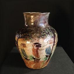 leo maes-vereenooghe ceramic belgium belgique 1900 danse macabre mysticisme
