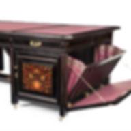 Herter Brothers desk 1880 cabinet marquetry leather ebonized wood masterpiece Vanderbilt