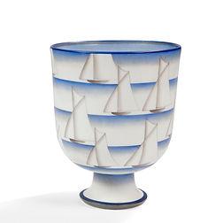 gio ponti richard ginori doccia firenze sailing boat vase 1927 futurism italiana ceramiche masterpiece sottsass gino severini boccioni