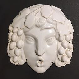 Sue et Mare masque bacchus comapgnie des arts français art deco 1920 ceramique secession viennoise french art deco louis sue andre mare camard