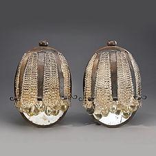 Sue et mare louis sue andré mare compagnie arts francais appliques clochettes fleurs cloches gouttes perles de verre fer forgé art déco