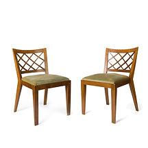 jean royère croisillons chaises 1937 bois décorateur