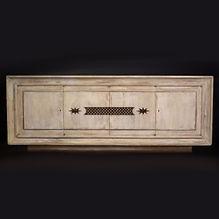Jacques ADNET & Gilbert POILLERAT bahut meuble bois cérusé bronze