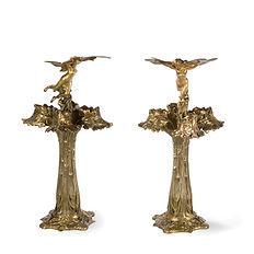raoul larche siot-decauville libellule lampe 1900 bronzedoré art nouveau