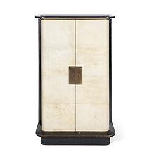 jacques adnet cabinet parchemin et bois laqué noir 1938