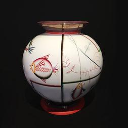 guido andlovitz laveno ceramiche pesci 1928 monunmental vase aquariuem diving helmet gio ponti