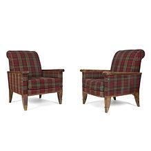 jean pascaud paire de fauteuils années 1940