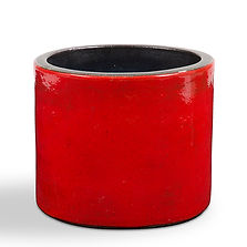 georges jouve grand rouleau cache pot rouge
