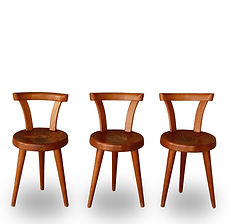 Charlotte perriand chaises 3 pieds n°20 rare BCB Blanchon succession