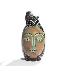pablo picasso madoura ramié vallauris 1950 céramique d'artiste édition limitée peintre cubisme maitre espagnol femme du barbu visage faune pichet jug
