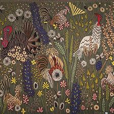 Dom Robert tapisserie annees 50 aubusson oiseaux