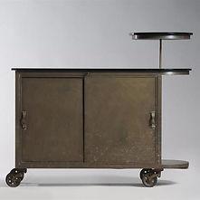 eugene printz bar moderniste roulant opaline bronze laiton collection adelsky 1930