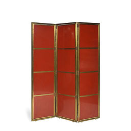 la maîtrise Galeries lafayettes 1928 maurice dufrene jacques adnet modernisme paravent folding screen laque rouge jean dunand red lacquered screen 1930 design brass
