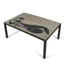 valentine schlegel andrée vilar-schlegel carreaux céramiques table basse 1955 claudie durand