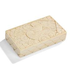 Georges BASTARD coffret boîte ivoire précieuse art deco perroquets