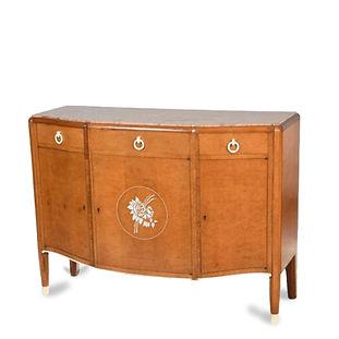 jules leleu meuble commode buffet loupe d'amboine ivoire marqueterie roses marbre 1924 art déco met museum