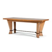 jean royère table de salle à manger bois métal