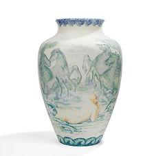 sèvres manufacture nationale jean serrière néréides 1921 1922 pièce unique 60 cm vase monumental porcelaine prestige