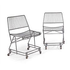 emmanuel eyraud olivier mourgue caddy chaise chair VIA design auction encheres fil de métal metal wire