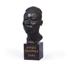 emile andre leroy sara afrique equatorial portrait ethnographie colonialisme bronze sculpture