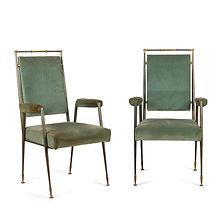 jules leleu andré leleu décoration fauteuils série 49 année création 1957 métal tubulaire élégance