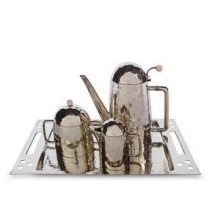 bepwf berliner electro plated waren fabrik deutschland silbersmith tee kaffee tea service silversmith hoffmann wiener werkstatte