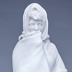 bourdelle madrilène marbre découverte 1902 femme au voile