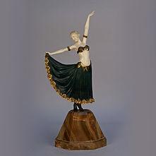 armand godard sculpture danseuse chryselephantine ivoire bronze art deco