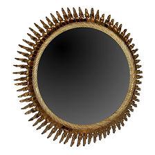 Line Vautrin miroir soleil torsadé 1950 talosel verre grand modèle