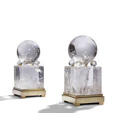 Maison JANSEN jansen décoration prince guy de polignac gladys de polignac 1931 cristal de roche jean-michel frank JMF emilio terry néoclassique obelisque modernisme michel roux-spitz boule de cristal quartz
