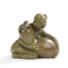 francois rupert carabin 1895 encrier coloquinte ceramique rare