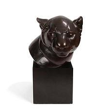 gaston etienne le bourgeois bagheera tête de panthère bronze animalier 1930 fondeur Colin