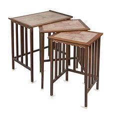 andré groult tables gigognes galuchat palissandre ivoire 1922 pièce unique collection de l'artiste exceptionnel