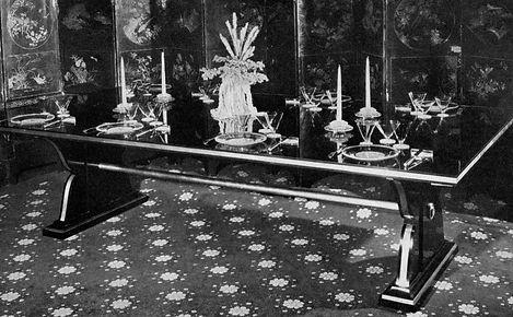 maison jansen table de salle a manger 220 cm luxe art de vivre à la française cardin crespi henri samuel jacques garcia jacques grange alberto pinto