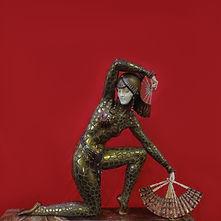 chiparus dancer with fans 1925 danseuse aux éventails sculpture chryselephantine bronze