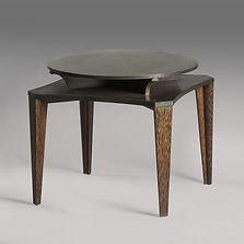 eugene printz table bridge table à jeux collection adelsky 1930 laiton bois de palmier