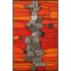 André Aleth MASSON céramique panneau décoratif 1970 relief céramique