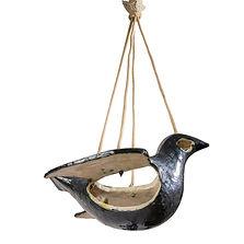 guidette Carbonell suspension oiseau lumineux sculpture 1952 galerie jeann céramique noir blanc  bucher