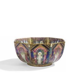 Daisy Makeig-Jones Wedgwood england ceramic porcelain fairyland lustre bowl 1920 wizard of oz preraphaelist symbolism rosetti waterhouse everett millais