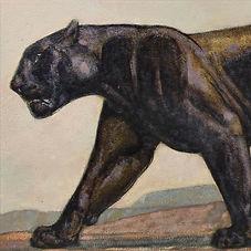 Paul Jouve bagheera livre de la jungle panthèr art deco fauves peintre animalier
